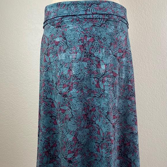 Lularoe turquoise and pink skirt size large